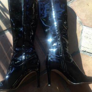 Patent leather black boots.Sam Edelman sz10